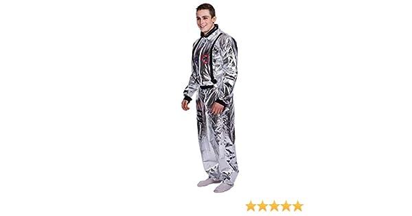 EraSpooky Astronauta Uomo Costume Argento Spazio Tuta
