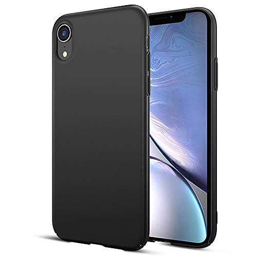 EIISSION Case Kompatibel mit iPhone XR Hülle, Hardcase Ultra Dünn iPhone XR Schutzhülle aus Hart-PC Case Cover Handyhülle für iPhone XR- Schwarz Slim Folie