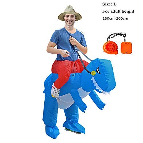 SHUFEI T-Rex Huckepack Kostüm, Morph Kostüme, T-Rex Huckepack Dress-Up Outfit, Lustige Party-Kleid Tier Cosply Für Kinder Und Erwachsene,L