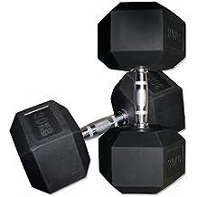 ELJQI - Mancuerna Hexagonal De Goma, Peso: 12,5 Kg