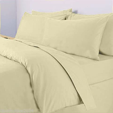 Sapphire collection 100% Egyptian Cotton 300 Thread Count (Pair of Pillowcase, Cream)