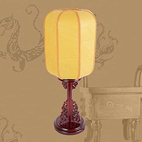 LLYY-Pecora lampada cinese camera da letto minimalista salotto classica tinta legno Lampade da comodini nuovi antico in legno cinese retrò-LYA