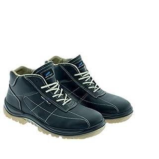 Aboutblu 2513811LA S3 SRC DGUV 112-191, Vibo, Water Repellent Safety Shoe, Unisex, Green, Leather, Size 9