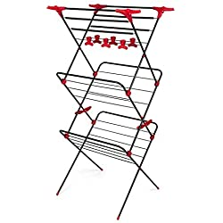Russell Hobbs Clothes Airer, Steel Black, Red, One size