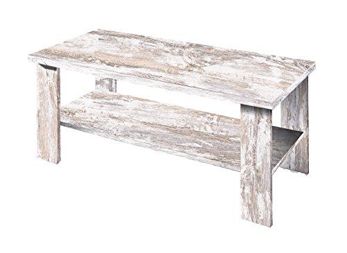 OVERHOME365 3575 V - Mesa centro, madera, color vintage, 100x50x42.5 cm