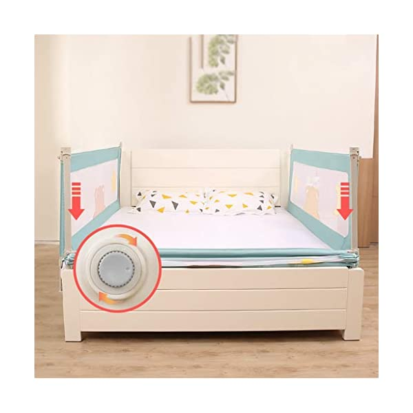 Playpens Crib Guardrail Baby Shatter-resistant Fence Large Bed 1.5-2.0 Meters Children Against Bedside Baffle (color : A, Size : 2.0M) Playpens ★ high quality non-toxic materials,Size:150cm/180cm/200cm ★ Vertical lift structure: no space is occupied, and it is more convenient to enter and exit. Push the fence down at the push of a button ★ height adjustment: can be adjusted according to the thickness of the mattress, so that the bed is close to the mattress. Avoid gaps between the mattress and the guardrail to prevent your child from falling 2