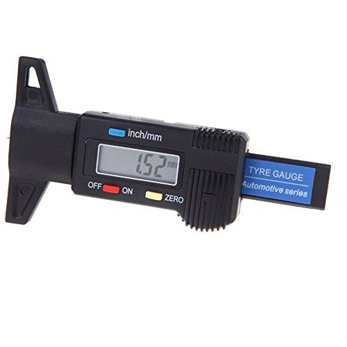 Tiefenmesser Profilmesser Messchieber, 0-25mm Digitaler Tiefenmesser Reifenprofil Elektronische Mikrometer messen