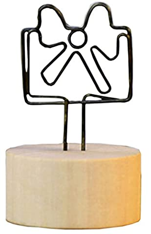 Ensemble de 5 titulaires de mémo créatifs en bois Notes de message Cartes-photos de cartes postales Mémo Clip # 1