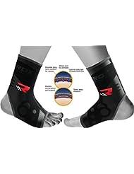 RDX MMA Néoprène Chevillère Pied Soutien Fitness Ankle Support Cheville Boxe Bandage Gym Entraînement Sport (Le Paquet Contient Une Seule Pièce)