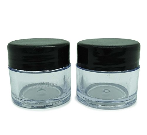 6 Pcs rechargeable solide Baume Lèvres Parfum Cosmetic Jar vide Storage Container Jar Jar gros plastique transparent Avec Black Cap 10 Gm