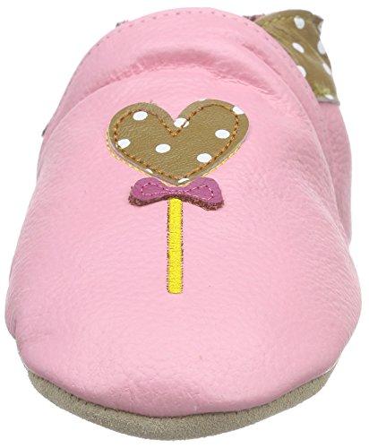 Rose & Chocolat Elephant Kiss Brown, Chaussures de Naissance Bébé Fille brun (Brown)