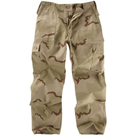 Unknown -  Pantaloni  - Uomo USA Three Colour Desert Camouflage Small - Army Surplus Camouflage