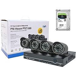 PNI Videoüberwachungsset Full HD mit 1TB HDD, DVR und 4 Externe Kameras