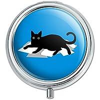 Schwarz Katze liegend auf Papier Pille Fall Schmuckkästchen Geschenk-Box preisvergleich bei billige-tabletten.eu