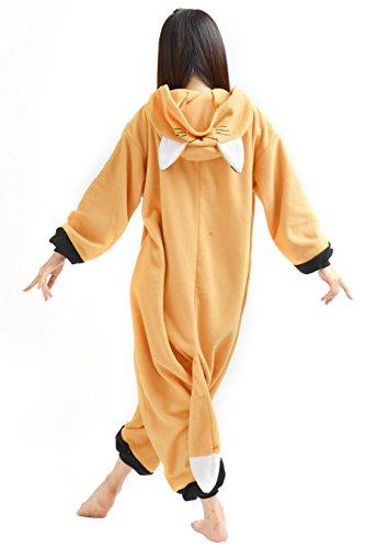 DATO Tier Pyjama Fuchs Erwachsene Unisex Cospaly Onesies Nachtwäsche fuchs