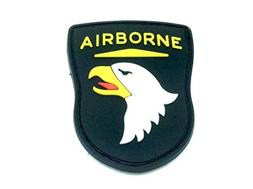 Airborne Emblem (Patch Nation Airborne Schwarz PVC Airsoft Paintball Klett Emblem Abzeichen)