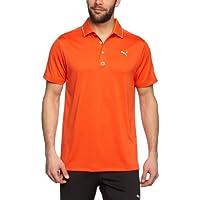 PUMA, Maglietta polo Uomo Golf Solid Jacquard, Rosso (cherry tomato),