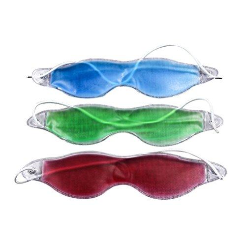 ROSENICE Gel Eye Mask 3 Piezas Máscaras para ojos refrescantes con líquido seguro no tóxico La migraña para aliviar alivia el dolor (como se muestra)