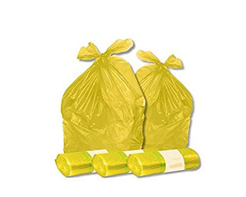 Palucart Sacchi spazzatura colore GIALLO cm 70x110 (110 litri) 100 pezzi