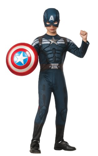 Winter Soldier Deluxe Stealth Costume Child Large (Deluxe Captain America Kostüme)