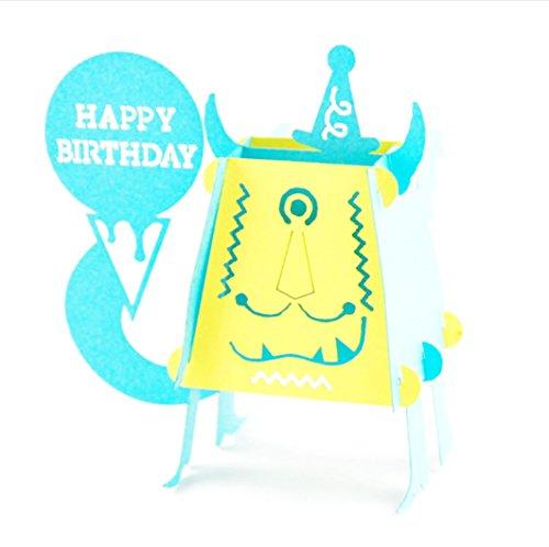 Little Monster Fun blanko 3D Pop up Display Jahrestag Karten Display Hochzeit Idee Geburtstag Boy DIY Mädchen Freund Viel Glück Goodbye alle Anlass Baby Grußkarten Graduation
