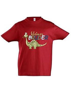 wolga-kreativ T-Shirt kleiner Bruder rot Dino Dinosaurier