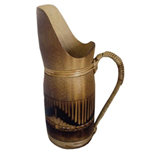Handcrafted Bamboo Craft Bamboo Jug Pitcher