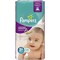Pampers Active Fit Nappies - Size 3+, 58 Nappies