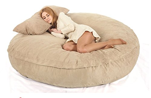Bean bag light brown (chill sofa) 180x140x30cm with pillow(NO FILLING, LINER ONLY) 600 liters