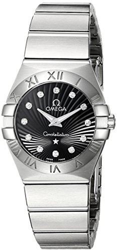 Omega Women's Analogue Watch with Black Dial Analogue