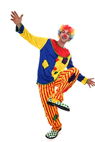 DRESS ME UP - Kostüm Clown Herren Kostüm Zirkus Kindergeburtstag Gr. S / M - Clown Fancy Dress Kostüm