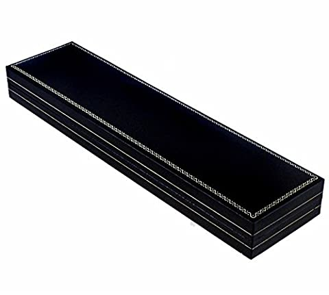 Boîte bracelet en similicuir noir