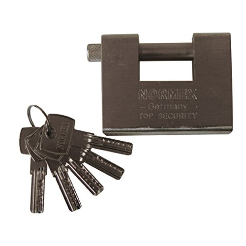Sicherheitsschloss Kastenschloss Stahl Normex Vorhängeschloss 5 Schlüssel