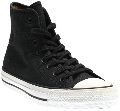 Converse Chucks Taylor All Star Hi Leder, Unisex - Erwachsene Sneaker Nero / Gomma / Bianco