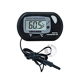 Demarkt Black Aquarium Digital Thermometer Fish Tank Water