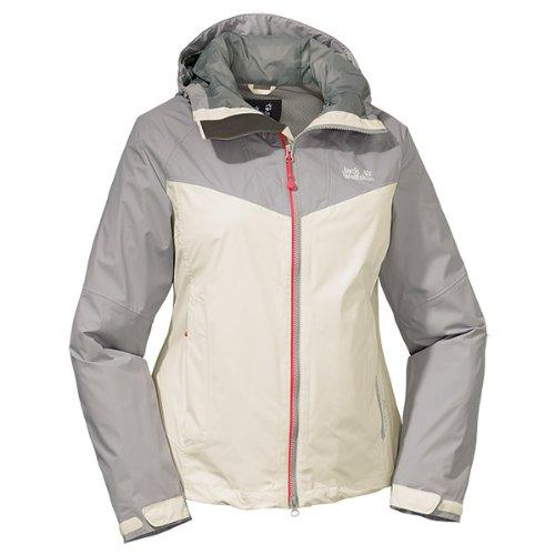 Jack wolfskin airrow veste de protection contre les intempéries Blanc - Sable