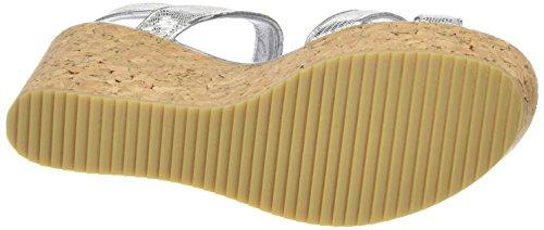 SHOOT - Shoot Shoes Sh-160030cc Damen Sommer Keil Sandalette Wedges, Sandali Donna Argento (Argento (Silver))