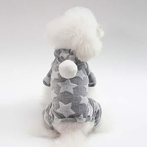 PET Cloth Home Herbst und Winter Neue Hundekleidung Haustierkleidung Stern vierbeiniges Fleece (Color : Ash, Size : M) Ash Fleece