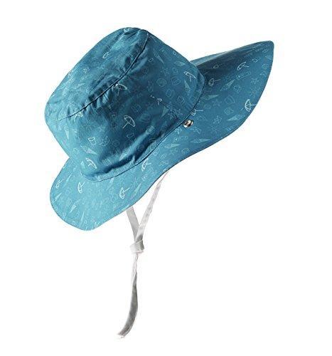 Ki ET LA Gorro Reversible 100% Anti UV, Chapeau de Cowboy Bébé Garçon, Bleu (Swim Swim), 51 (Taille Fabricant: 50/52 Centimeters)