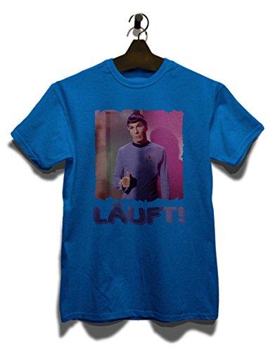 Laeuft 64 T-Shirt Royal Blau