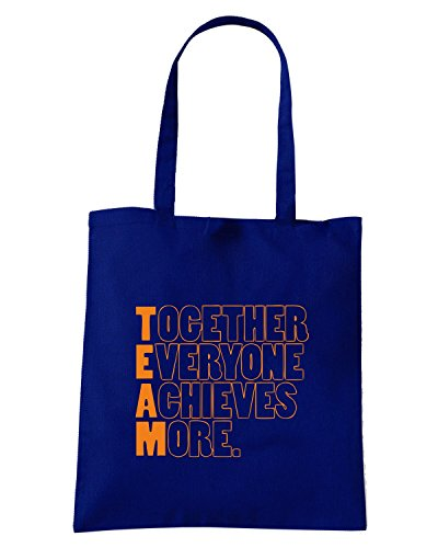 T-Shirtshock - Borsa Shopping WC0586 TEAM - Together Everyone Achieves More Blu Navy