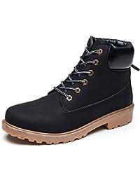 ukStore Damen Herren Worker Boots Schnür Stiefeletten Herbst Winter Outdoor Warme Gefütterte Winterstiefel Wasserdicht Martin Stiefel