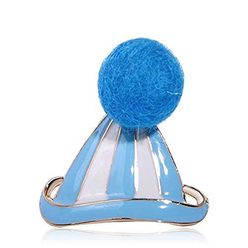 JXtong2 Spilla Spilla con Cappello Blu in Feltro Gioielli da Donna Colletto per Ragazze Borsa per Abito Collare Ornamenti per...