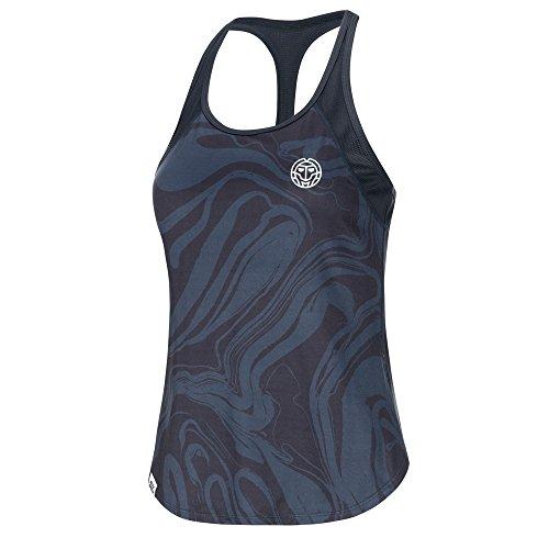 BIDI BADU Damen Tennis Tank Top - Mimi Tech Tank - anthracite/darkblue (FA18), Größe:XL
