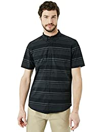Oakley Camisa Manga Corta Stripe Woven Negroout
