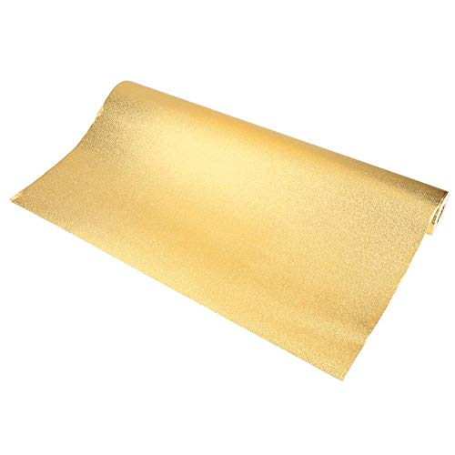 Glitzer-Tapetenrolle, 3D Tapete, Tapete, Rolle, Glitzereffekt, für Wohnzimmer, Schlafzimmer, TV, Hintergrunddekoration, Wandrolle, PVC, 10 m x 0,53 m, gold, 10m x 0.53m