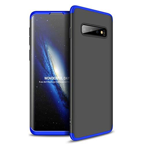 Lanpangzi Kompatibel mit Xiaomi Redmi Go Hülle 3 in 1 Kombination Case Ultra Slim PC Hartschale Anti-Kratzer Stoßfänger Schutzhülle, Blau+Schwarz (Bling Anmerkung Schwarz Fällen 3 Mit)