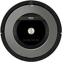 iRobot Roomba 865 Staubsaug-Roboter (50% stärkere Reinigungsleistung, Gummi Walzen) schwarz/grau