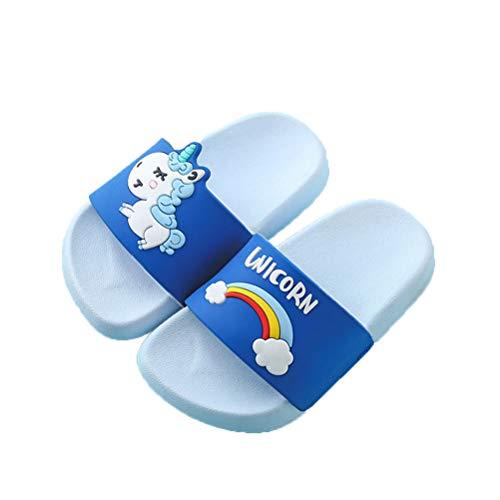 Feidaeu Mädchen Einhorn Hausschuhe Sommer Tiere Kinder Indoor rutschfest Baby Hausschuhe PVC Cartoon Regenbogen Hausschuhe