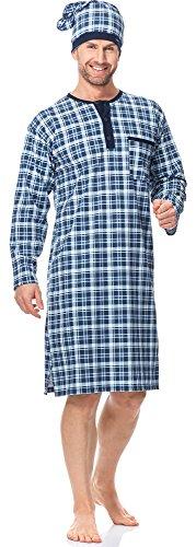 Cornette Herren Nachthemd mit Schlafmütze CR1102017 Muster-581305